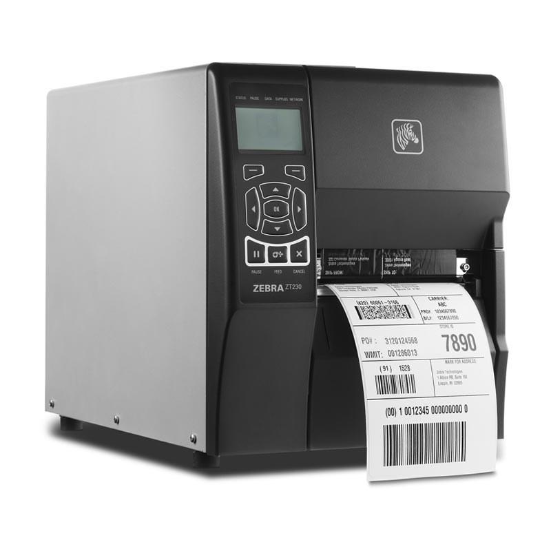 Zebra ZT230 203 dpi Serial and ZebraNet n Print Server